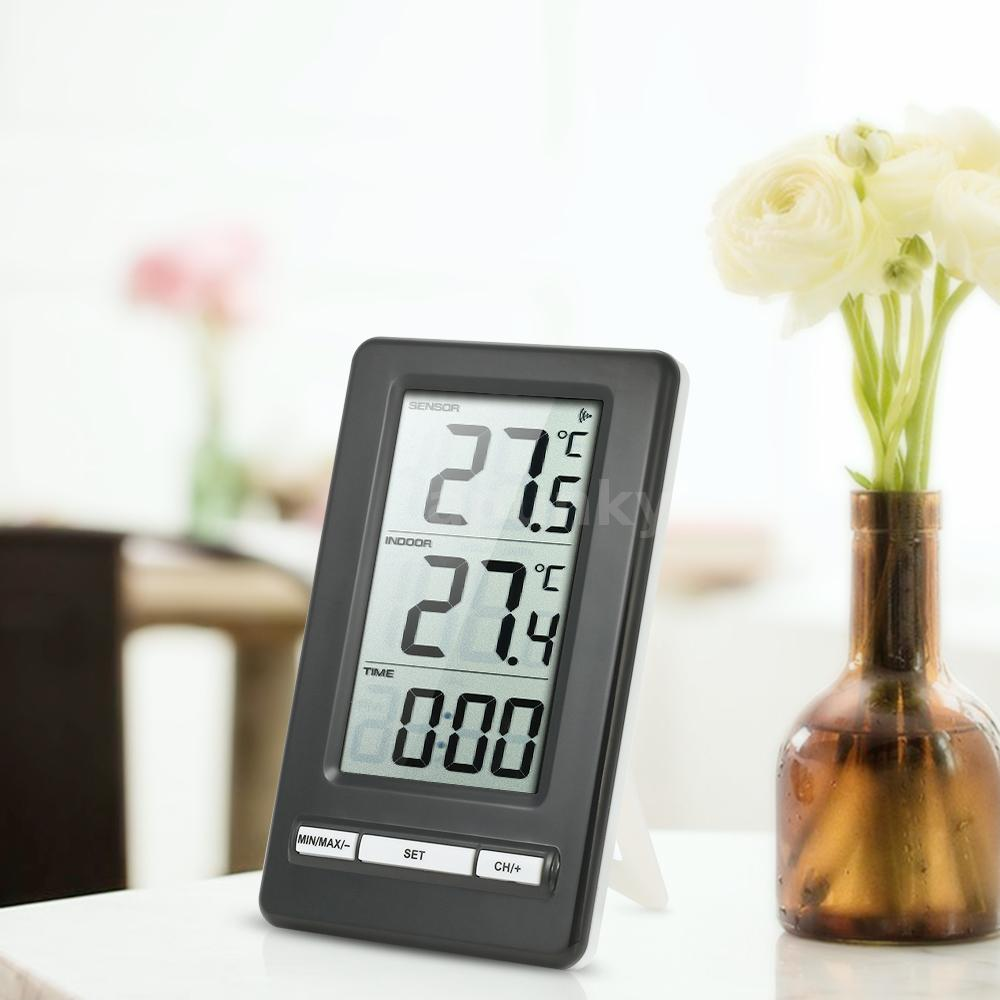 digital innen und au en thermometer wireless funk kabellos au enf hler g8z1 ebay. Black Bedroom Furniture Sets. Home Design Ideas